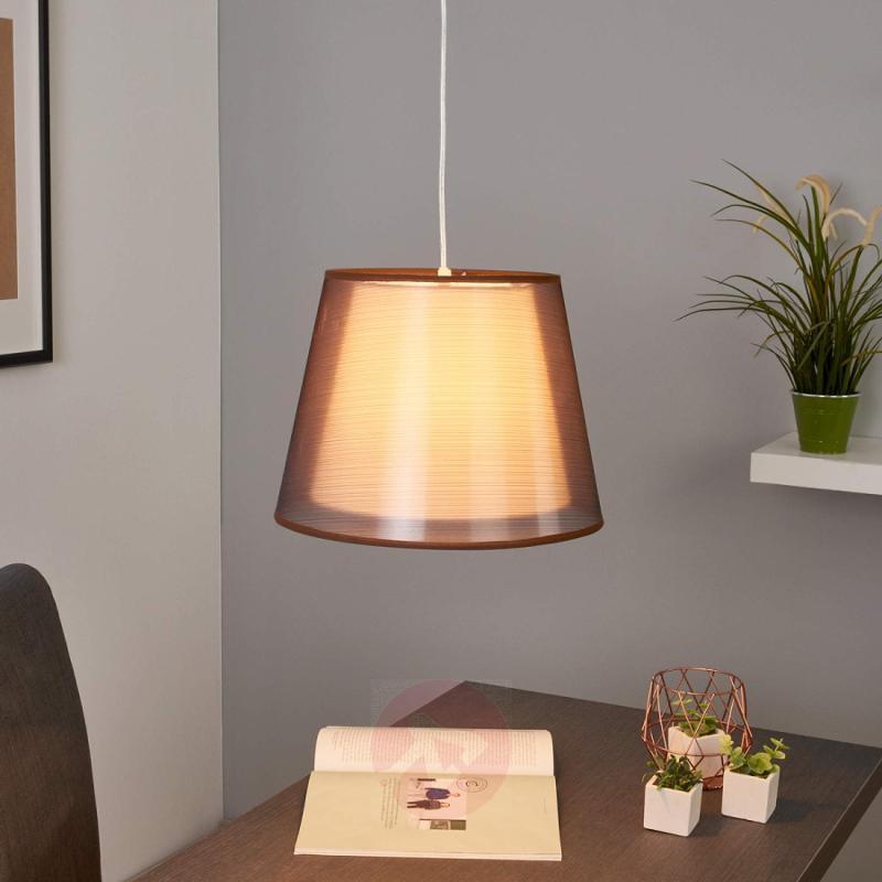 Pretty pendant light Weni, brown - indoor-lighting