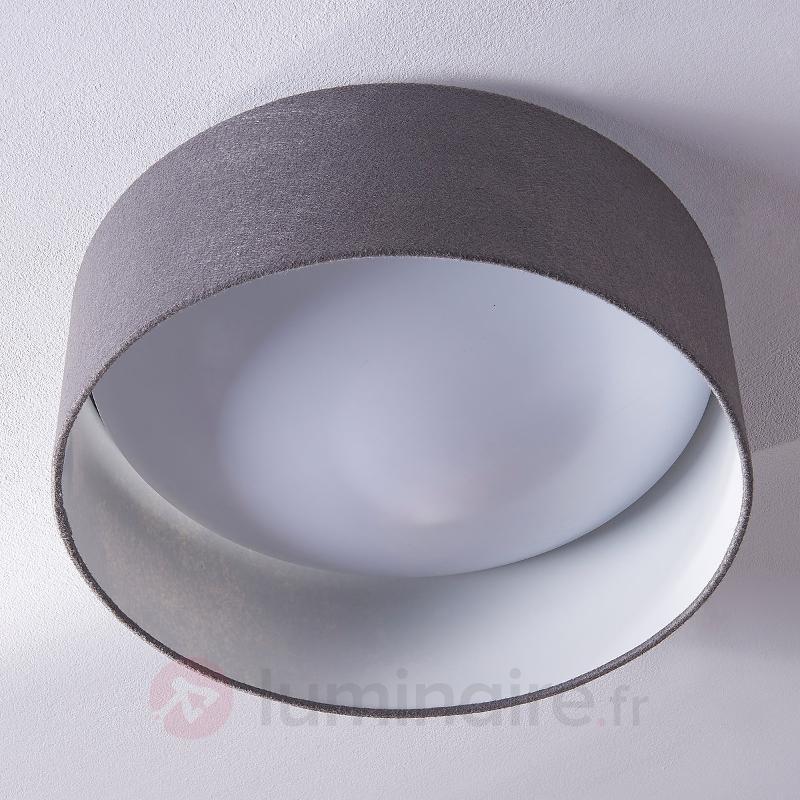 Plafonnier en feutre gris Jarle avec LED - Plafonniers en tissu