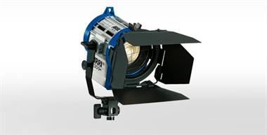 Halogen spotlights - ARRI Junior 300 PLUS blue/silver with Schuko