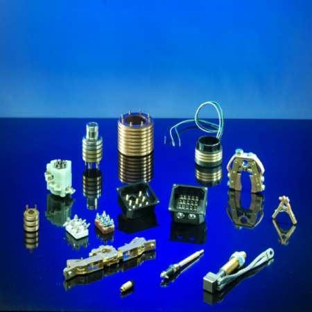 Schleifringe , Schleifringkörper - Übertragung von Signalen und Daten  von stehenden auf rotierende Bauteile
