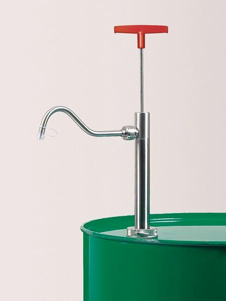 Stainless steel barrel pump - Manual pump for filling combustible and easily flammable liquids,...