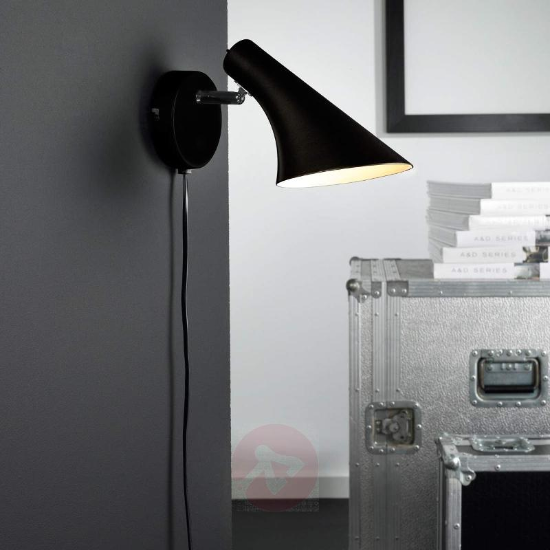 Modern flexible wall lamp Liam black - Wall Lights