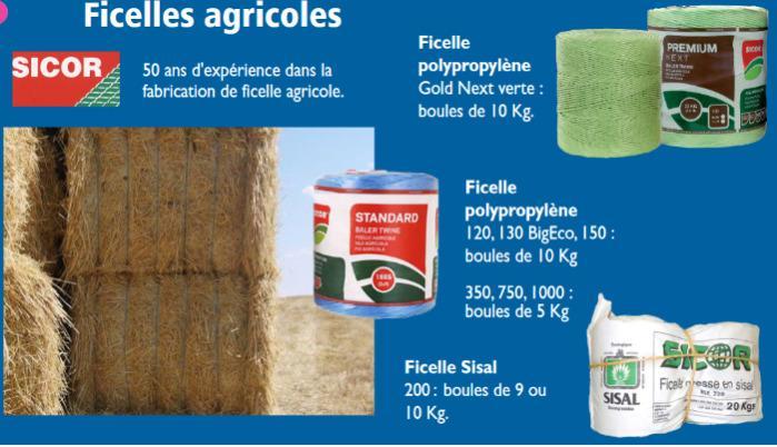 Article en plastique pour l'agriculture - film étirable plastique, filet pour balles rondes, ficelles agricoles...