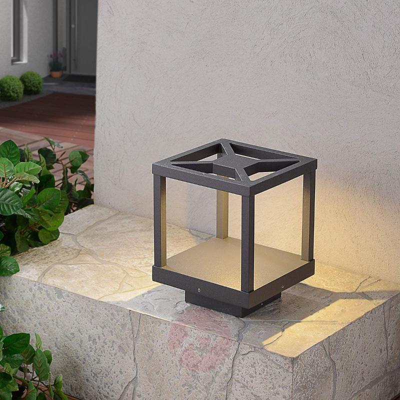 Extravagant LED pillar light Lealand - Pillar Lights