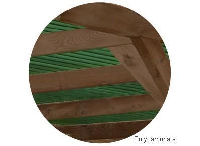 Abri voiture en bois avec atelier - Avec arc