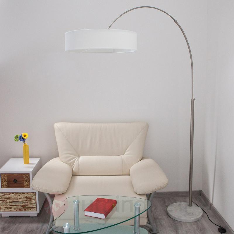 Lampadaire en tissu blanc Shing - Lampadaires en tissu