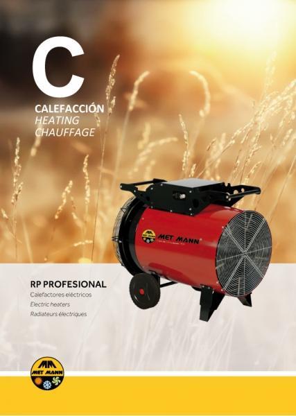 Calefacción eléctrica portátil de aire caliente 3 a 30 kW - Calefacción eléctrica portátil de aire caliente 3 a 30 kW - RP PROFESIONAL