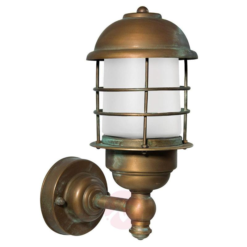 Brass outdoor wall lamp Amando, seawater-resistant - Outdoor Wall Lights