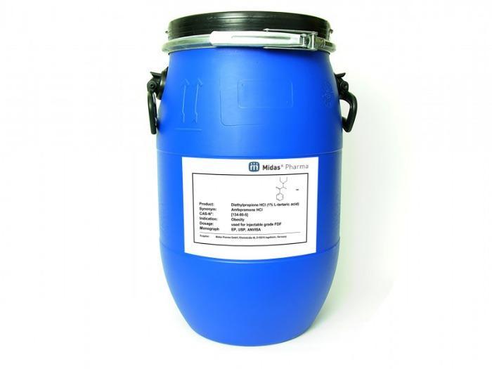 Amfepramonhydrochlorid - Diethylpropionhydrochlorid; Wirkstoff; EP, USP; 134-80-5; Amfepramonhydrochlorid
