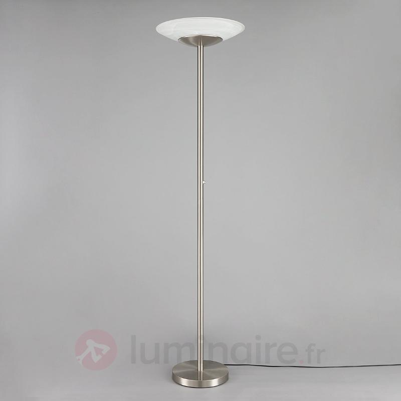 Lampadaire LED moderne Ragna à intensité variable - Lampadaires LED à éclairage indirect