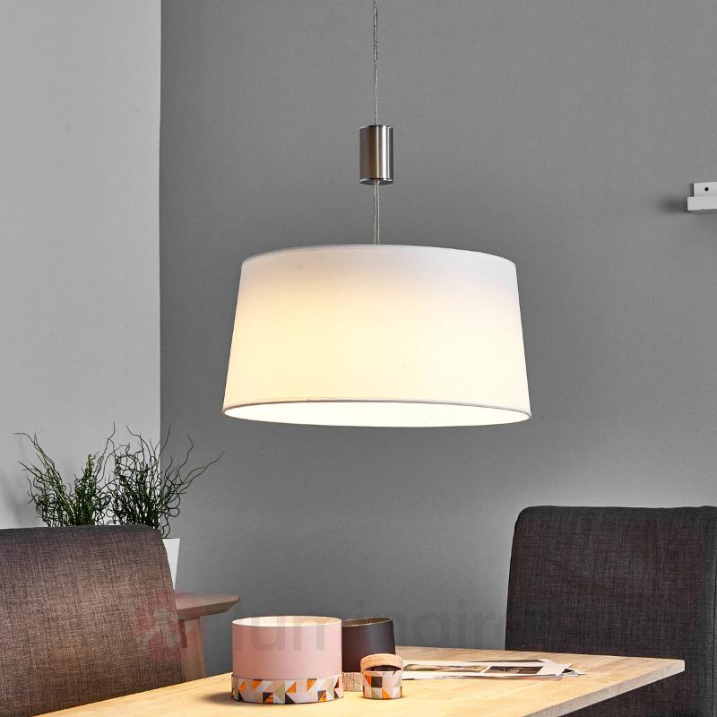 Suspension LED blanche Wanja en tissu - Suspensions LED