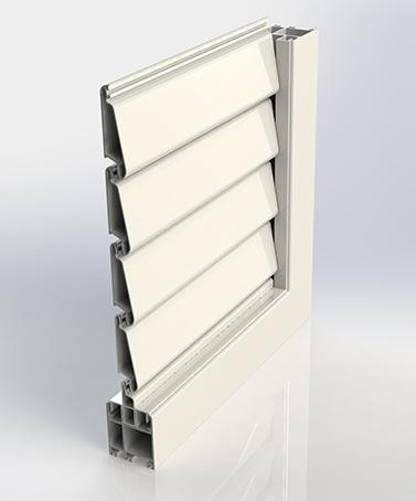 Puertas Plegables con Persiana Mallorquina Orientable - AIRCLOS S55 MO