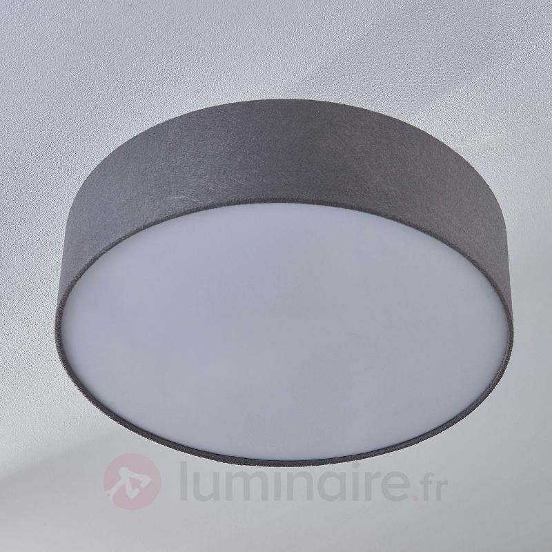 Plafonnier en feutre gris Jarle - Plafonniers en tissu