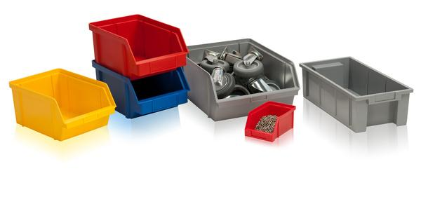 Plastic storage boxes -