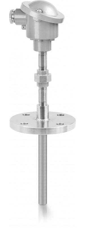 OPTITEMP TCA-TF55 - Sensor de temperatura de termopar / de brida / con termopozo