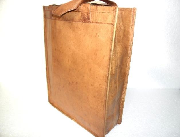 Leather Tote Bag - Vintage Handmade Leather Tote Bag