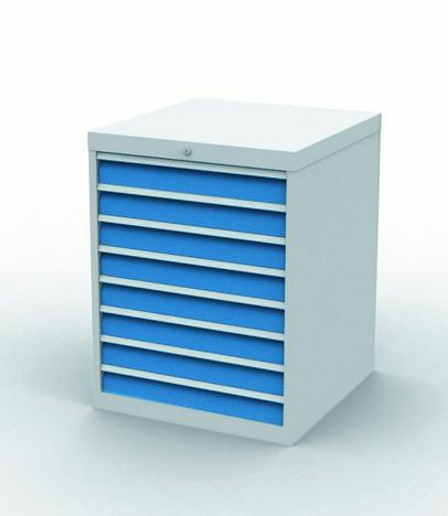 Drawer cabinet with 8 drawers, different front heights - 790/0800V10A