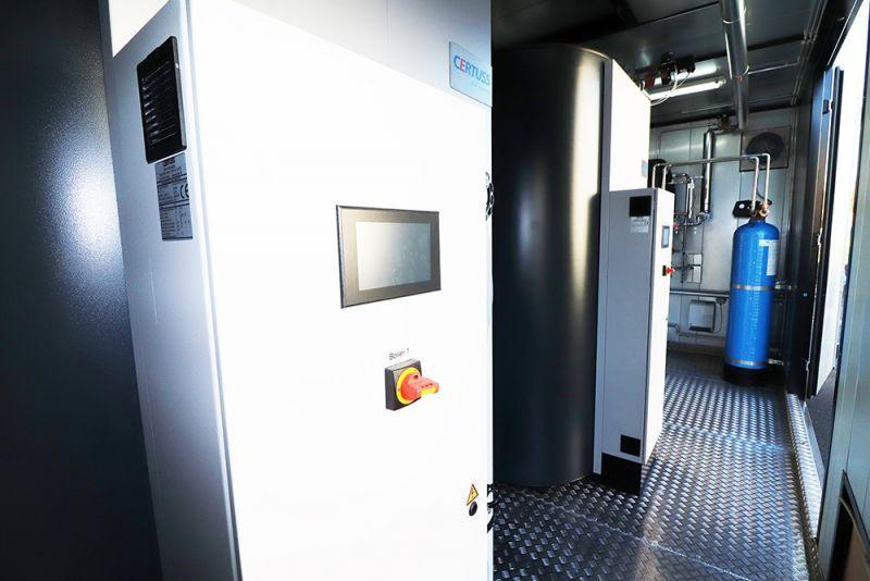 Installation de vapeur en conteneur - Chaudières à vapeur -