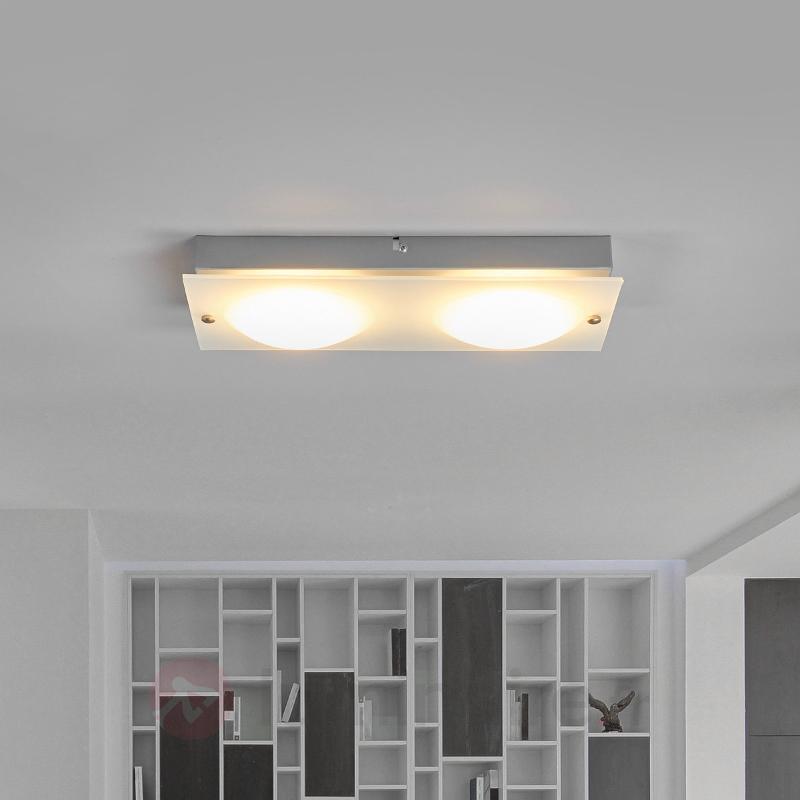 Annika - applique LED en verre à deux lampes - Appliques LED