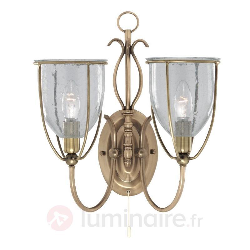 Applique de style SILHOUETTE à 2 lampes - Appliques classiques, antiques