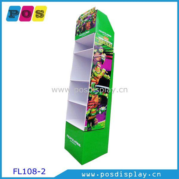 Custom made Corrugated paperboard display FL108 - Point Of Sales paperboard display stand for Stationery promotion