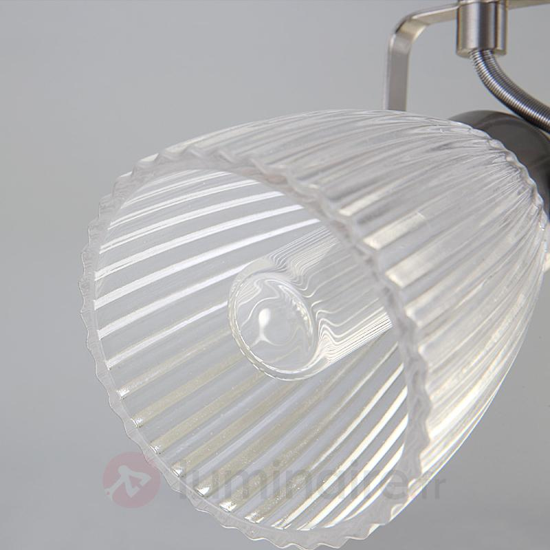 Kara - applique de salle d'eau LED verre texturé - Salle de bains et miroirs