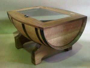Vertical Cut Coffee Table With Door -