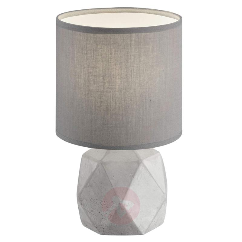 Soft grey table lamp Pike - indoor-lighting