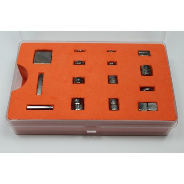 Magnet set M with 25 medium-sized Neodymium magnets - null