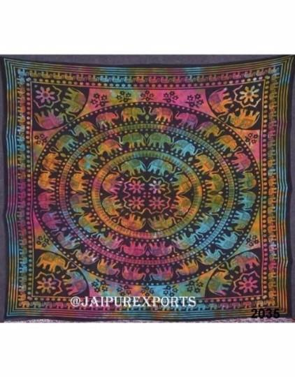 New Indian Tie Dye Mandala Wall Hanging Home Decor Tapestry