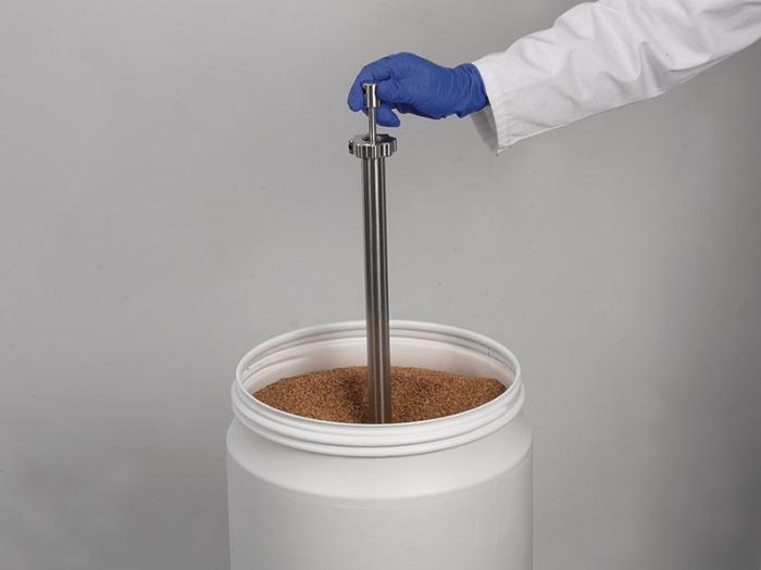 Core Sampler - Sampling of bulk materials that become stuck or settle easily