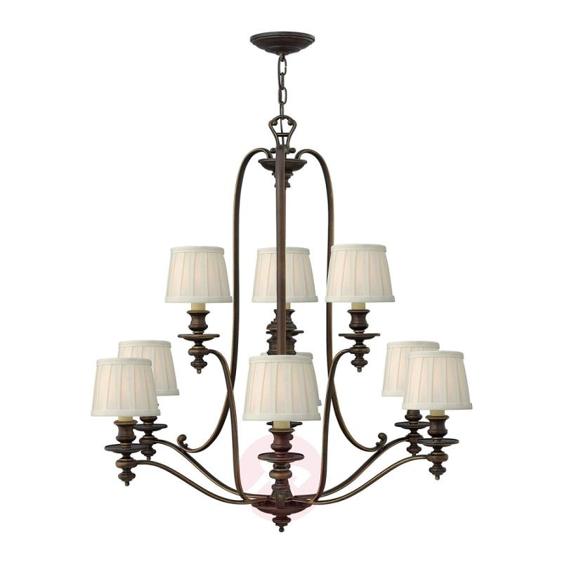 Magnificent chandelier Dunhill, 9 bulbs - design-hotel-lighting