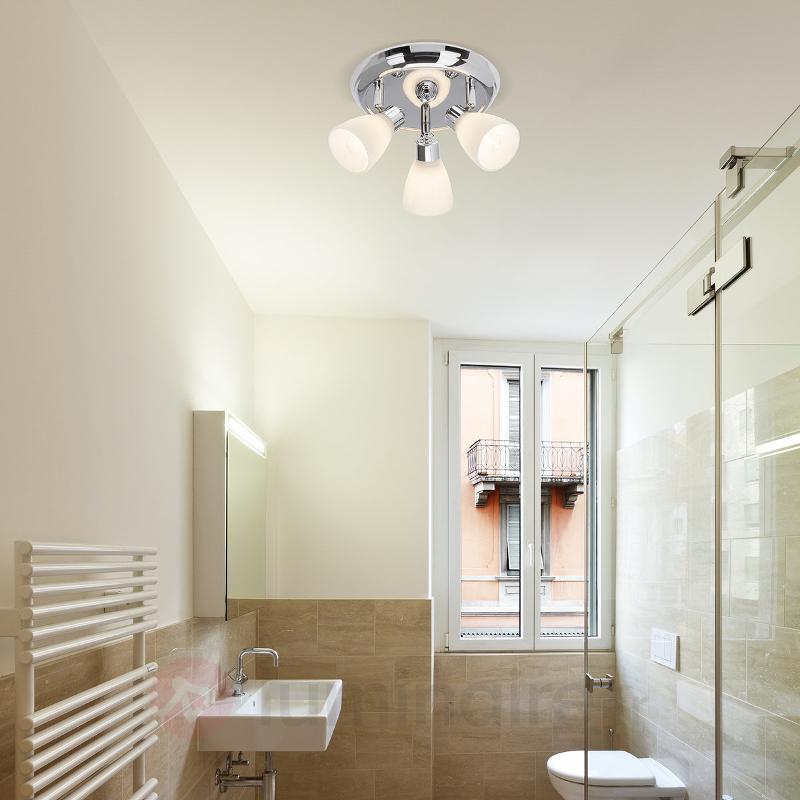 Plafonnier rond Kensington à trois lampes, chromé - Salle de bains