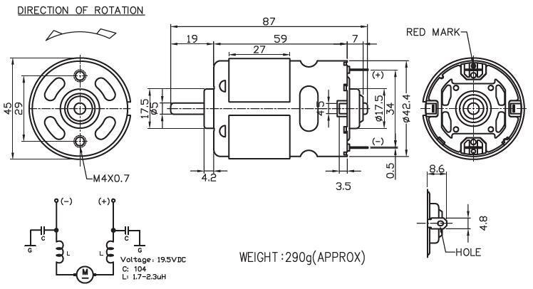 755 - Brush DC Motor