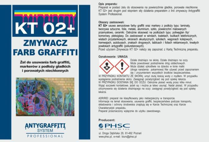KT 02+ - Zmywacz farb graffiti -