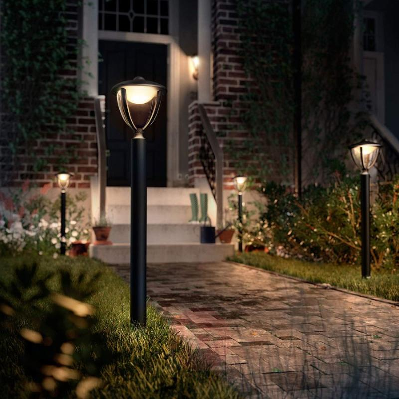 Black Robin LED path light - outdoor-led-lights