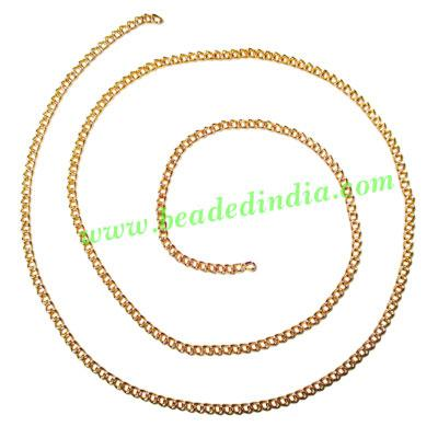 Gold Plated Metal Chain, size: 1x2mm, approx 100.7 meters in - Gold Plated Metal Chain, size: 1x2mm, approx 100.7 meters in a Kg.