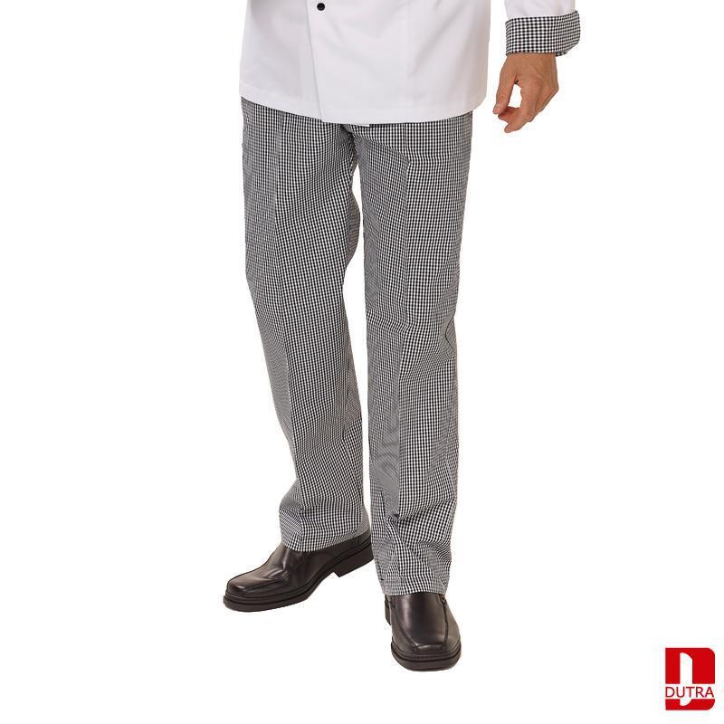 Pantalon cuisine et salle noir ou pied-de-poule - null