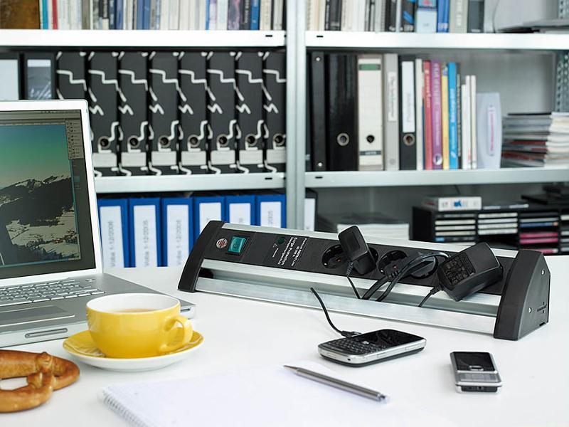 Alu-Office-Line 60.000A extension socket - null