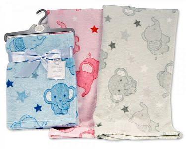 Baby Printed Blanket/ Wrap - Elephant -