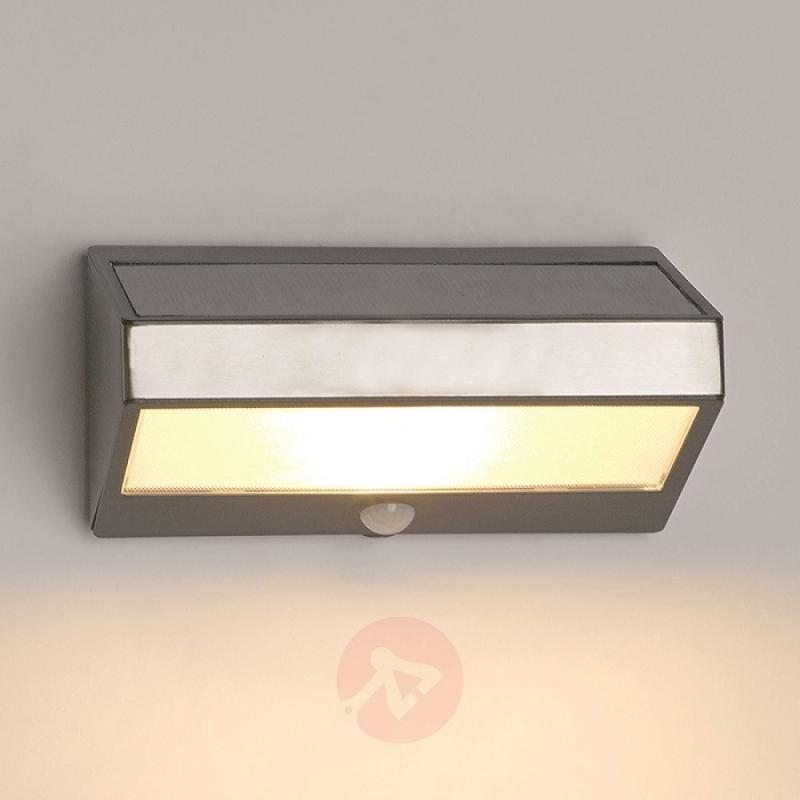 Greenhouse Solar Wall Light with Motion Detector - stainless-steel-outdoor-wall-lights