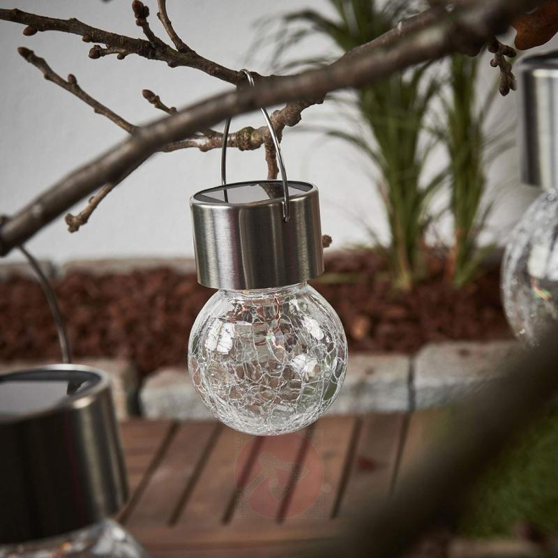 LED solar hanging lamp Colour Ball, set of 3 - outdoor-led-lights