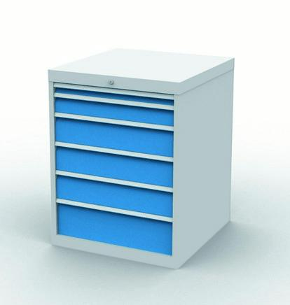 Drawer cabinet with 6 drawers, different front heights - 790/1131V10A