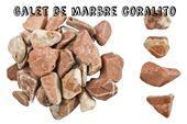 Galets de marbre - Galet coralito : Galet de marbre corail