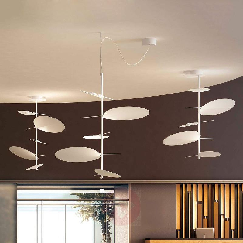 Delicate LED hanging light Obs with 5 lampshades - Pendant Lighting