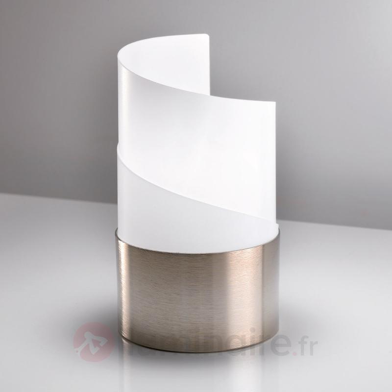 Lampe à poser Caracòl avec abat-jour satiné - Lampes de chevet