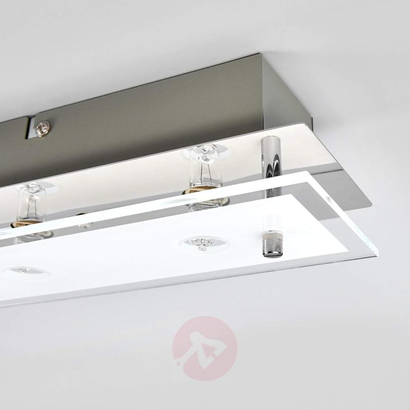 Glass ceiling light Levy with LED lamps - indoor-lighting