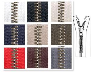 Zip 6 Metaluxe © bronze fixe (Standard - 12 cm - Noir) - Fermetures à glissière