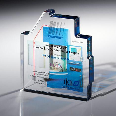 FINANCIAL TOMBSTONES out of PLEXIGLAS - null