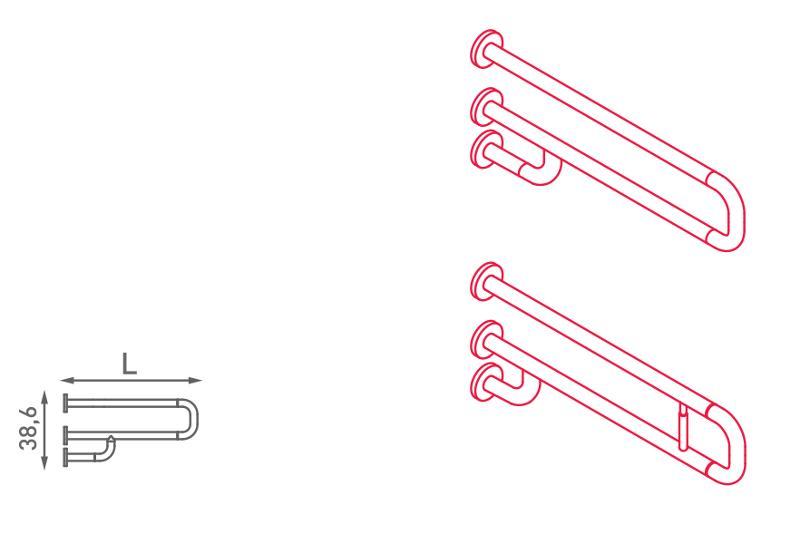 Maniglione di sostegno fisso - N32.100-105
